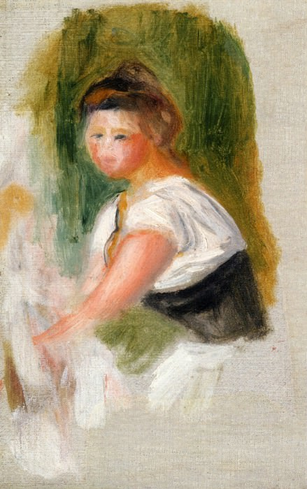 Young Woman (Private collection). Pierre-Auguste Renoir