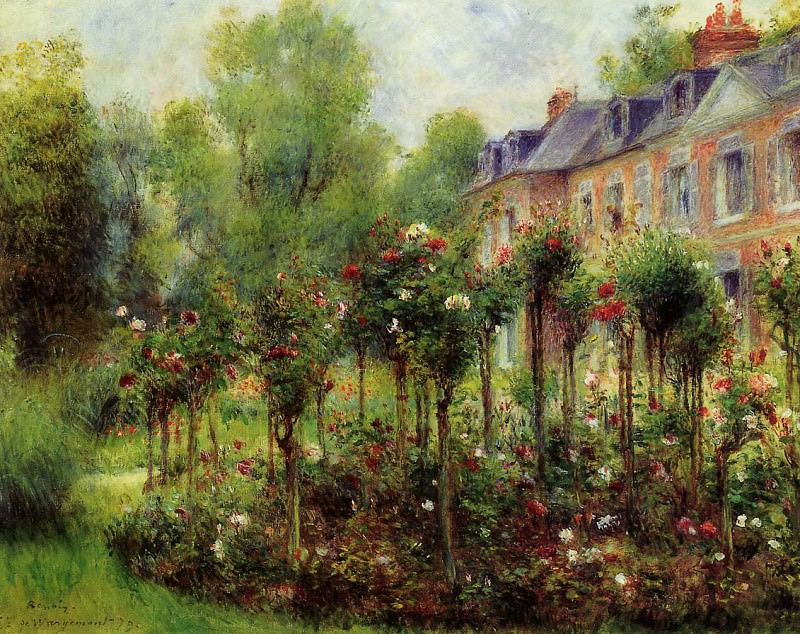The Rose Garden at Wargemont - 1879. Пьер Огюст Ренуар