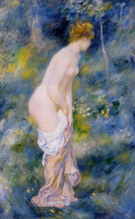 Standing Bather - 1887. Pierre-Auguste Renoir