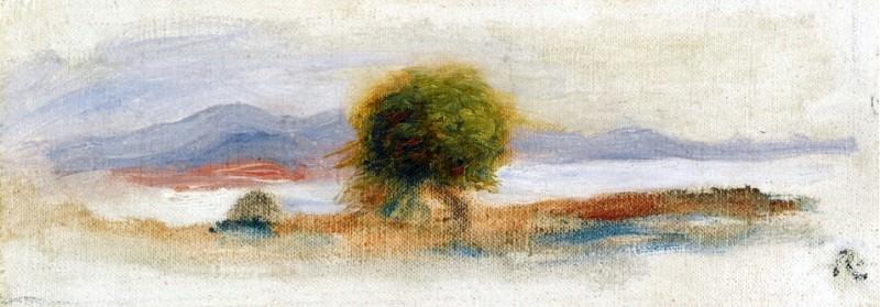 Cagnes Landscape - 1910. Pierre-Auguste Renoir