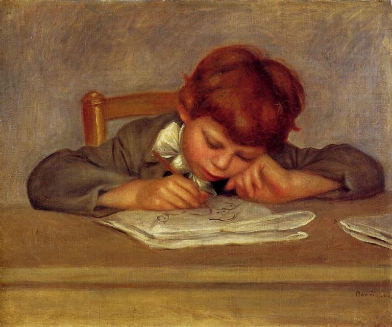 Jean Drawing - ок 1901. Пьер Огюст Ренуар