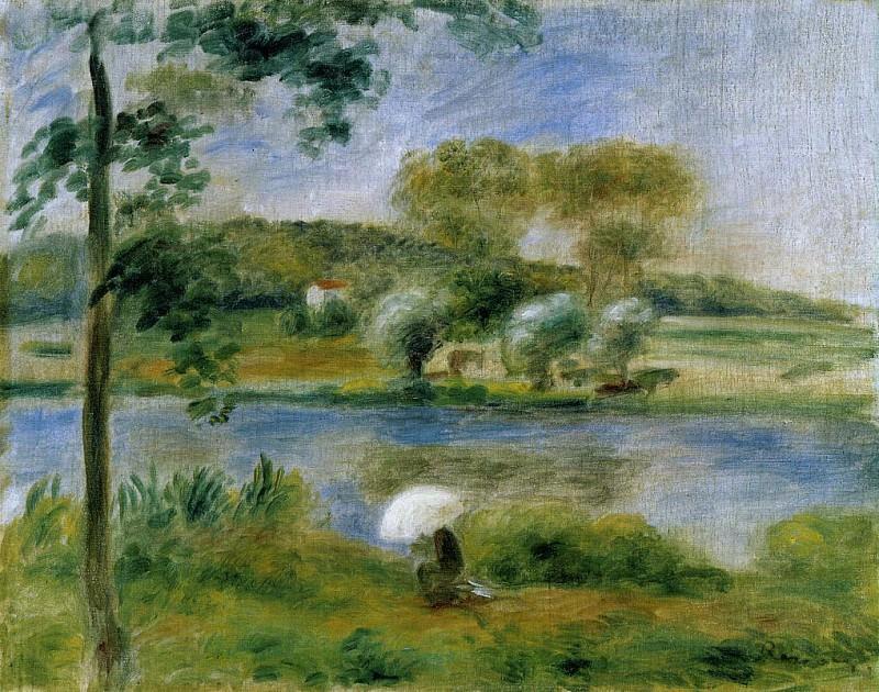Landscape. Banks of the River. Пьер Огюст Ренуар