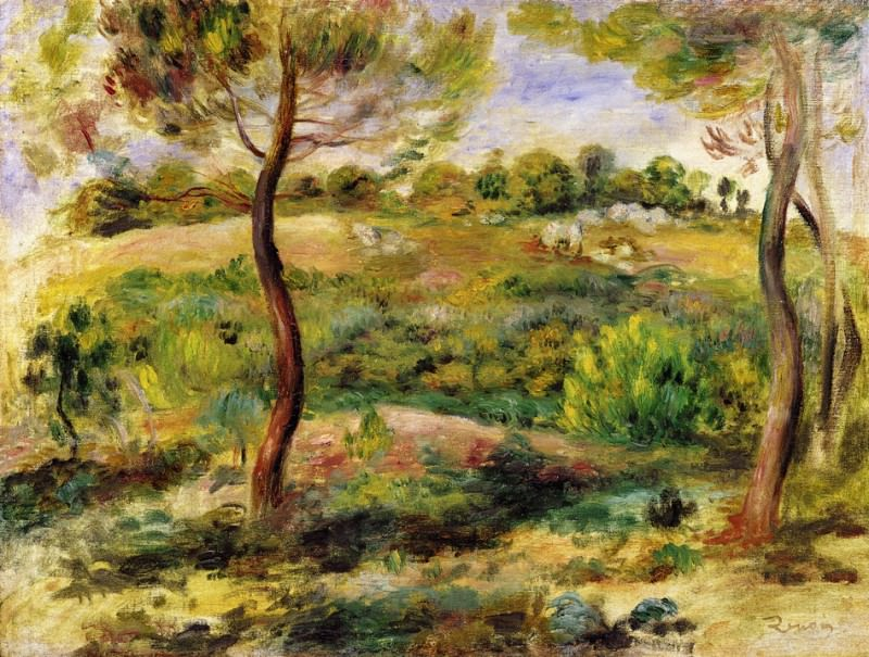 Landscape - 1915. Пьер Огюст Ренуар