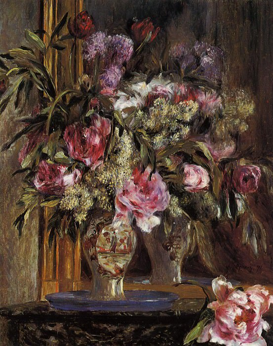 Vase of Flowers - 1871. Пьер Огюст Ренуар
