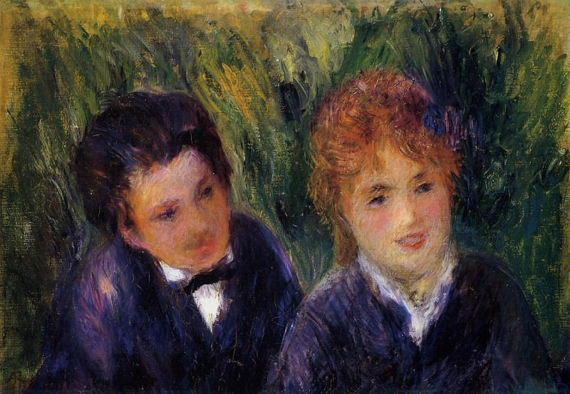 Young Man and Young Woman - 1876. Pierre-Auguste Renoir