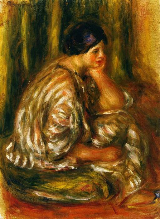 Woman in an Oriental Costume. Pierre-Auguste Renoir