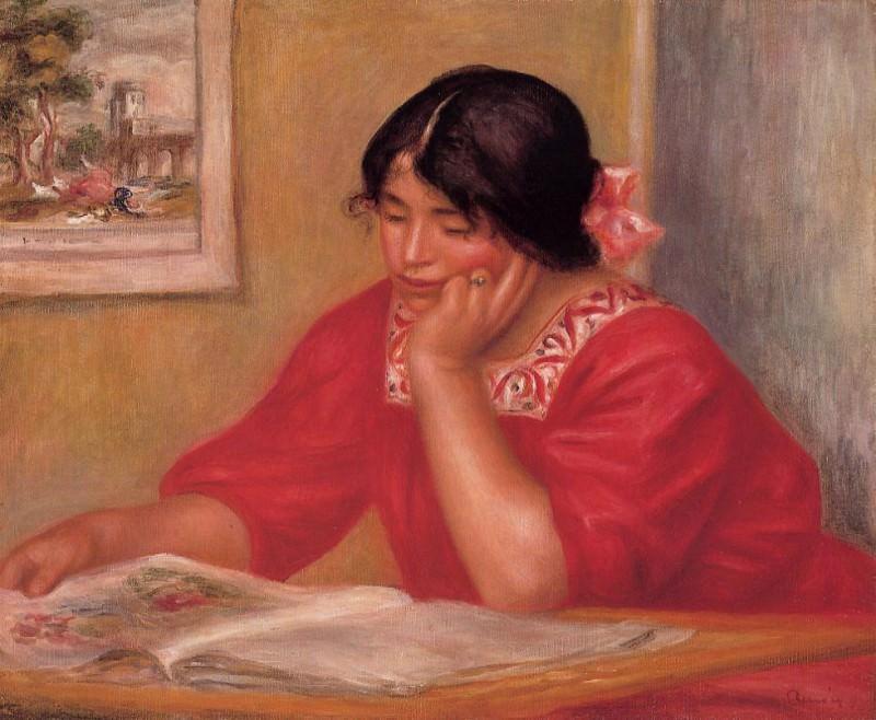 Leontine Reading - 1909. Pierre-Auguste Renoir
