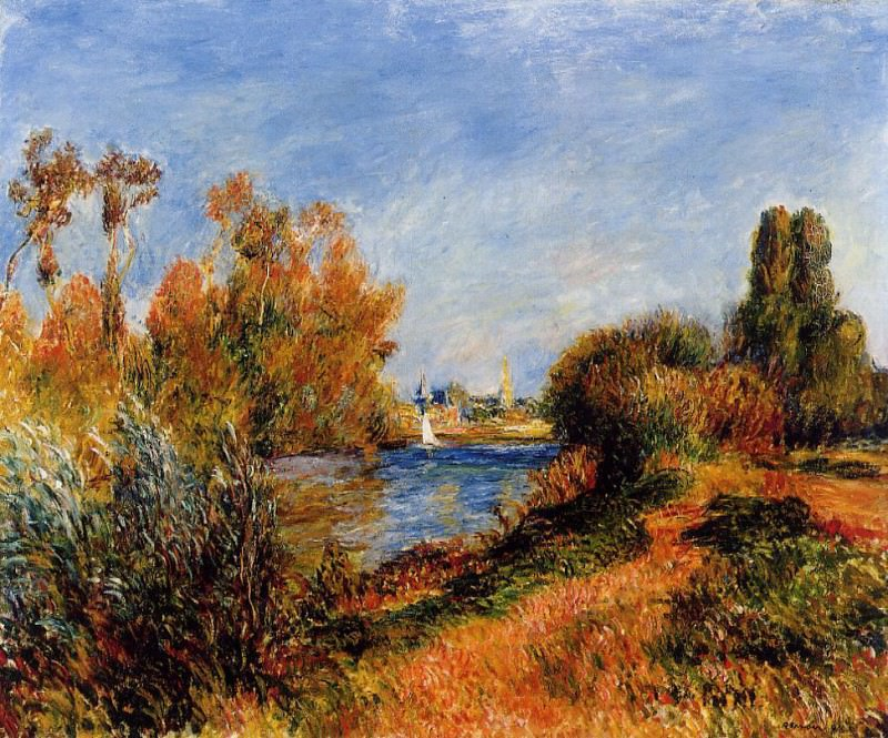 The Seine at Argenteuil - 1888. Pierre-Auguste Renoir