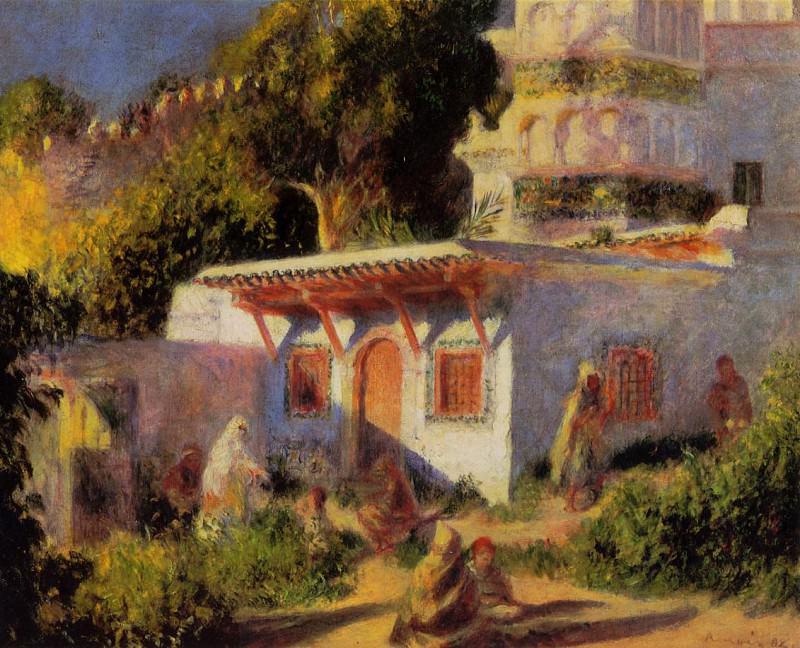 Mosque in Algiers 1882. Pierre-Auguste Renoir