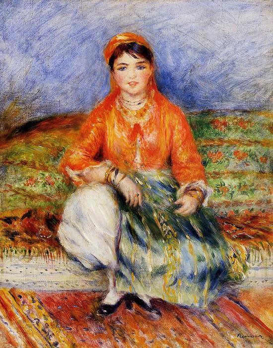Algerian Girl -. Пьер Огюст Ренуар