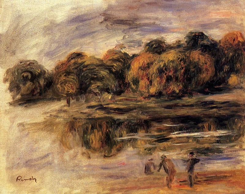 Fishermen by a Lake. Pierre-Auguste Renoir