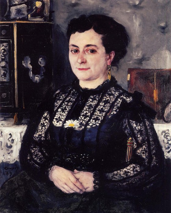 Woman in a Lace Blouse - 1869. Pierre-Auguste Renoir