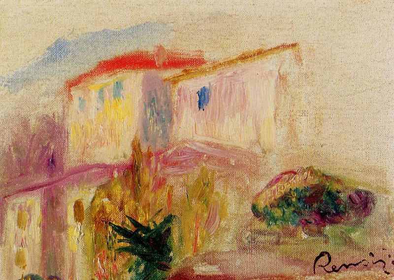 Le Poste at Cagnes (study) - 1905. Пьер Огюст Ренуар
