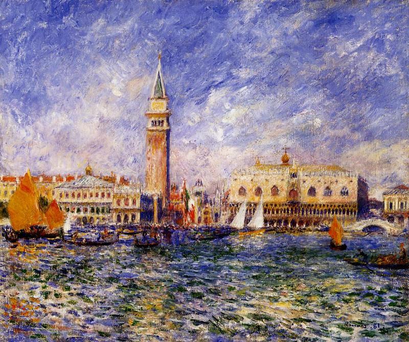 The Doges Palace, Venice - 1881. Pierre-Auguste Renoir
