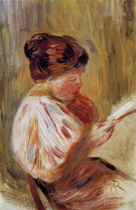 Woman Reading. Pierre-Auguste Renoir