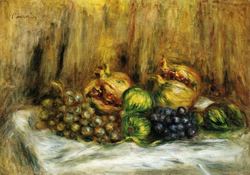 Still Life with Grapes. Pierre-Auguste Renoir