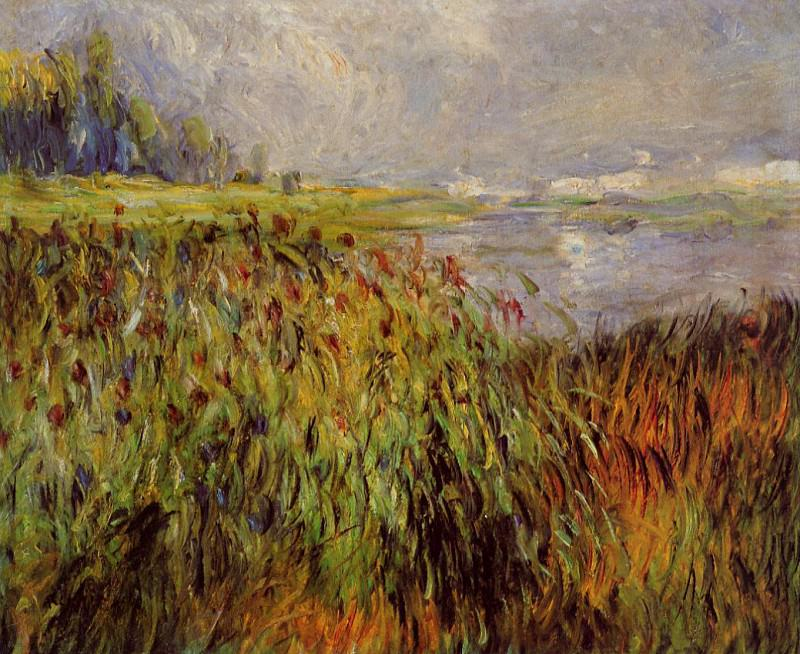 Bulrushes on the Banks of the Seine - 1874. Pierre-Auguste Renoir