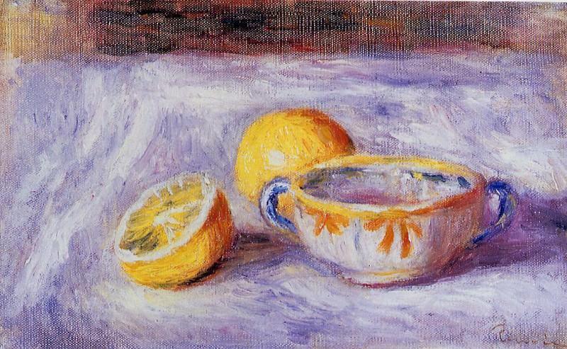 Still Life with Lemons. Pierre-Auguste Renoir