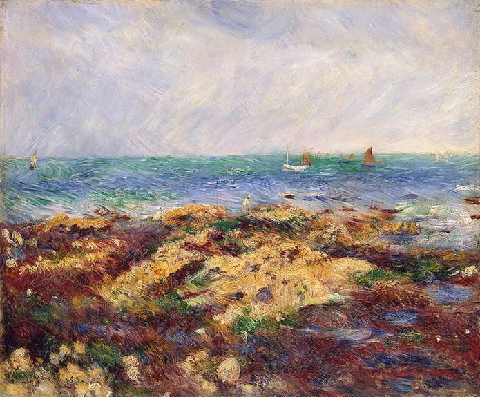 Low Tide at Yport - 1883. Pierre-Auguste Renoir