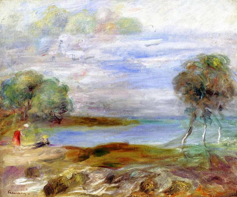 Two Figures by the Water. Pierre-Auguste Renoir