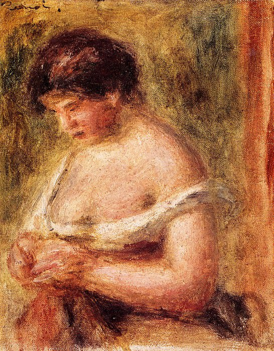 Woman with a Corset - 1914. Pierre-Auguste Renoir