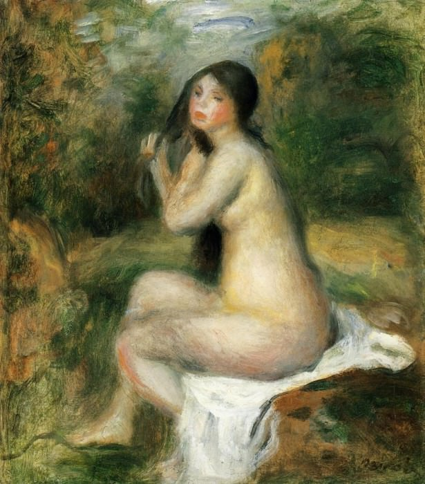 Seated Bather. Pierre-Auguste Renoir