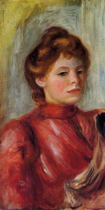 Portrait of a Woman - 1891-1892. Pierre-Auguste Renoir
