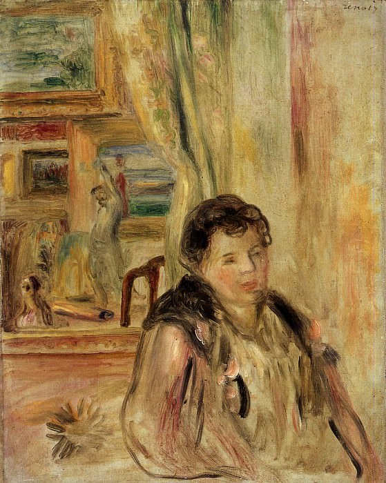 Woman in an Interior. Pierre-Auguste Renoir
