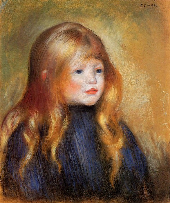 Head of a Child (also known as Edmond Renoir) - 1888. Pierre-Auguste Renoir