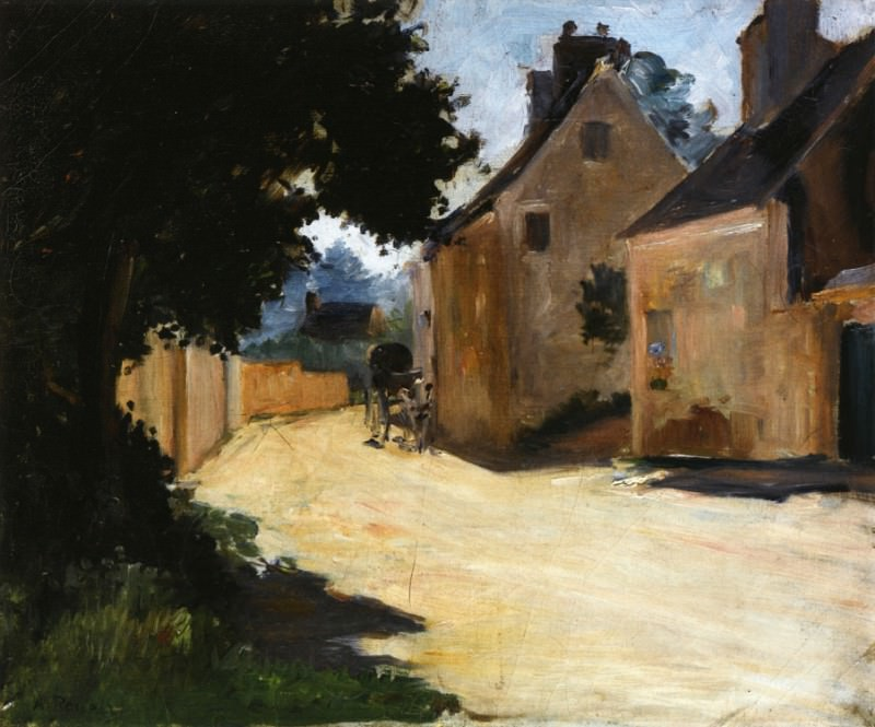 Village Street, Louveciennes - 1871 - 1872. Пьер Огюст Ренуар