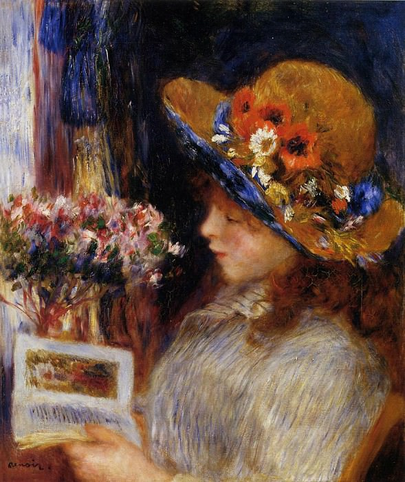 Young Girl Reading - 1886. Pierre-Auguste Renoir