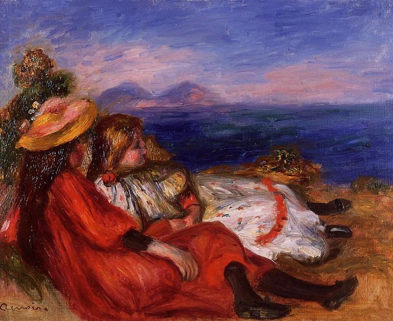 Two Little Girls on the Beach - 1895. Pierre-Auguste Renoir