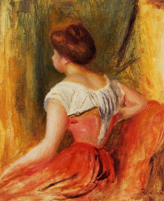 Seated Young Woman - 1896. Pierre-Auguste Renoir
