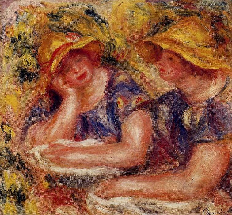 Two Women in Blue Blouses - 1919. Pierre-Auguste Renoir