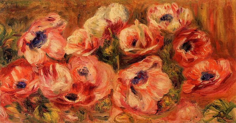 Anemones. Pierre-Auguste Renoir