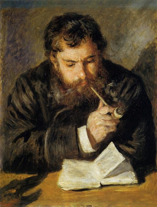 Claude Monet (also known as The Reader) - 1873-1874. Pierre-Auguste Renoir