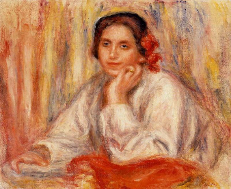 Vera Sertine Renoir - 1914. Pierre-Auguste Renoir