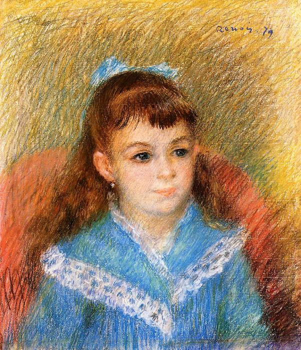 Portrait of a Young Girl (also known as Elizabeth Maitre) - 1879. Pierre-Auguste Renoir