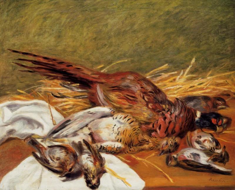 Faisans, Canapetiere et grives - 1902. Pierre-Auguste Renoir