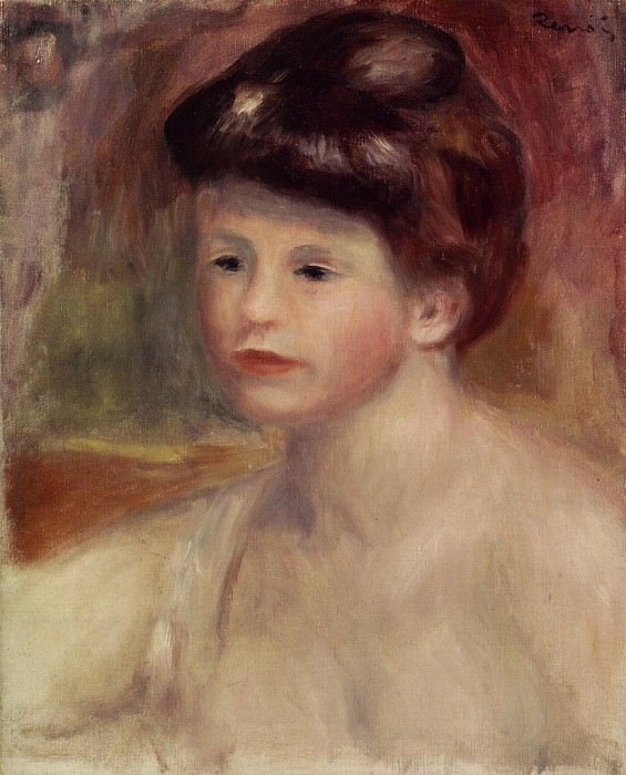 Bust of a Young Woman - 1904. Pierre-Auguste Renoir
