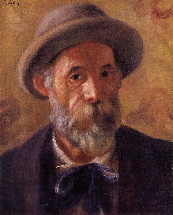 Self Portrait - 1899. Пьер Огюст Ренуар