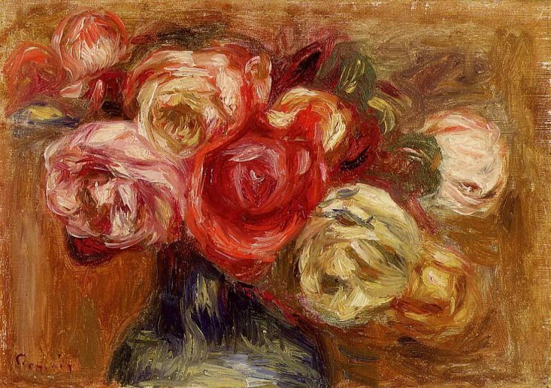 Vase of Roses - 1910. Пьер Огюст Ренуар