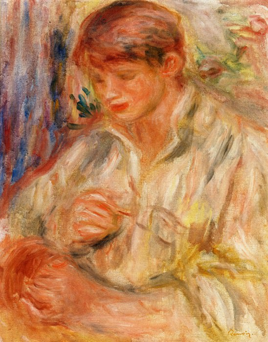 Claude Renoir Potting - 1916. Пьер Огюст Ренуар