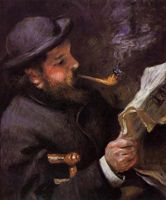 Клод Моне читаающий - 1872. Пьер Огюст Ренуар