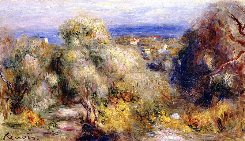 View of Cannet - 1898. Pierre-Auguste Renoir