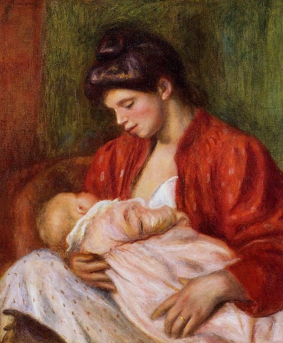 Young Mother - 1898 (Private collection). Пьер Огюст Ренуар