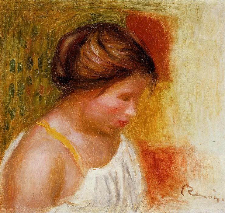 Gabrielle in a Chemise - 1905. Pierre-Auguste Renoir