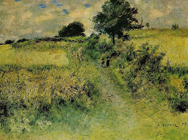 The Field - 1873. Pierre-Auguste Renoir