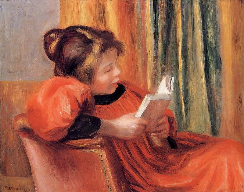 Girl Reading - 1890. Пьер Огюст Ренуар