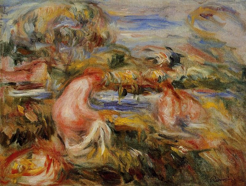 Two Bathers in a Landscape - 1919. Пьер Огюст Ренуар